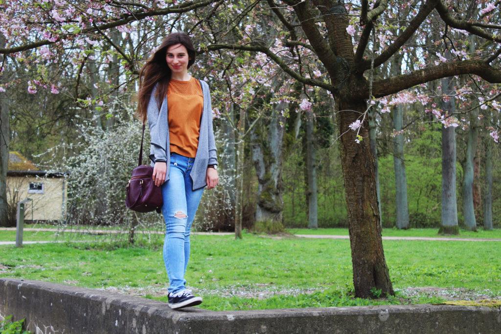 Fashionblogger zur Kirschblütenzeit