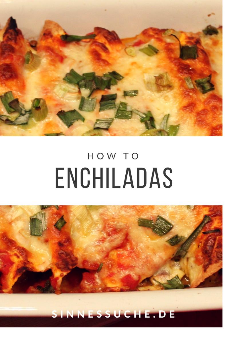 Enchiladas mit Bohnenmus