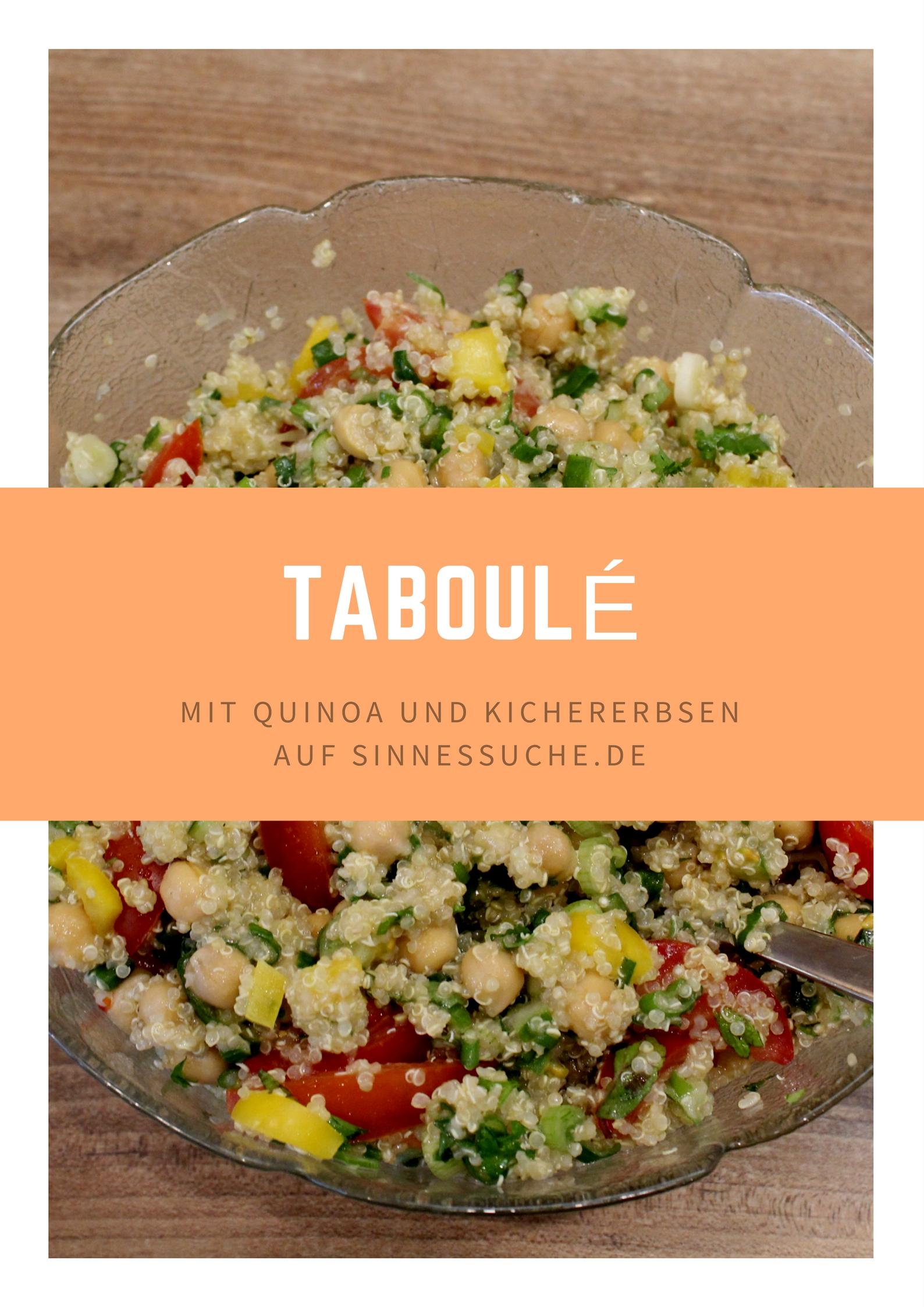sommerliches Taboulé mit Quinoa und Kichererbsen