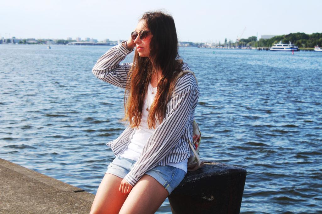 Sommerlook mit Oversize Bluse