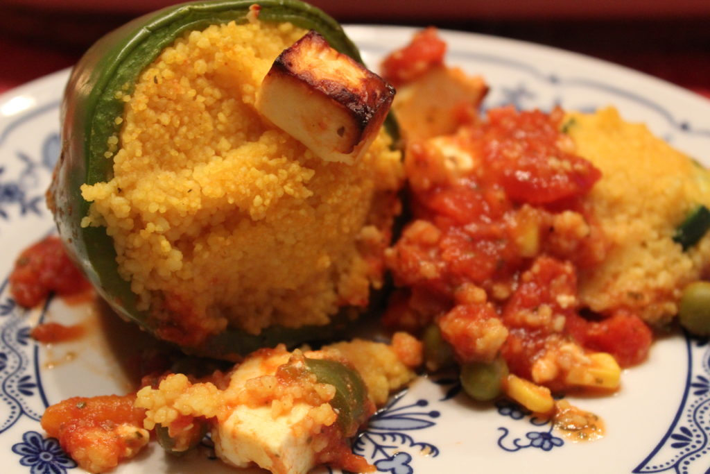 vegetarisch gefüllte Paprika