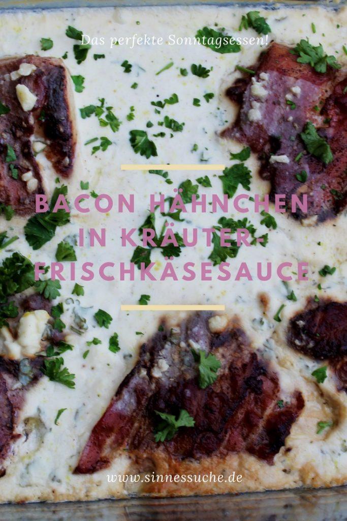Bacon Hähnchen in Kräutersauce