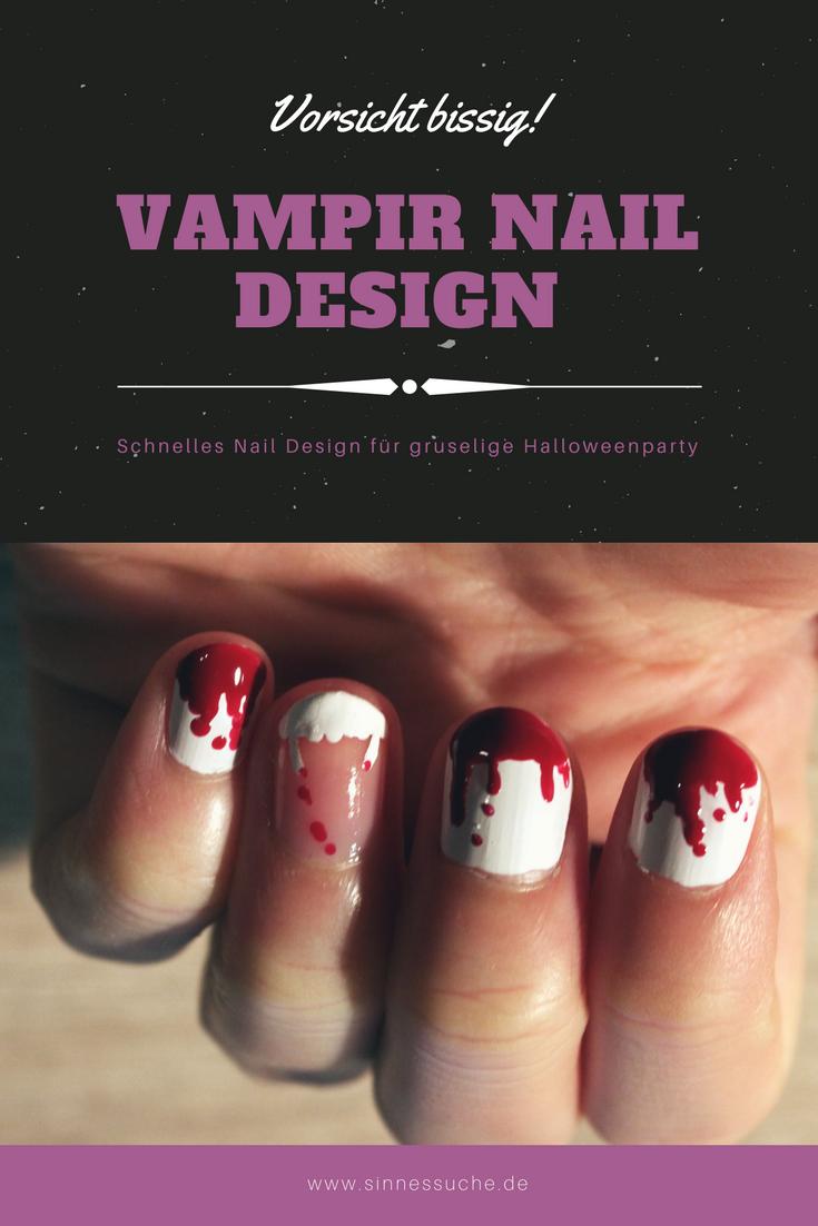 Vampir Nagel Design für Halloween