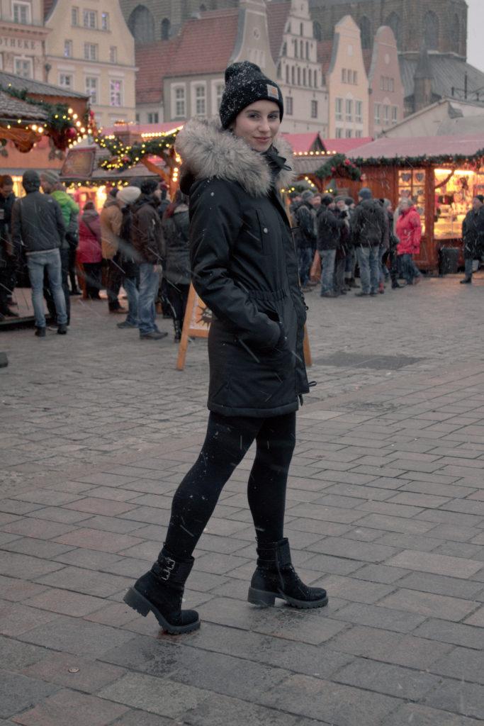 All Black auf dem Weihnachtsmarkt