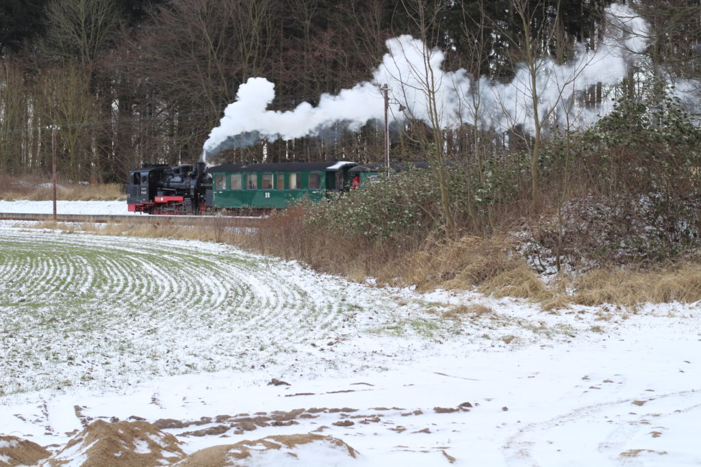 der rasende Roland auf Rügen im Schnee