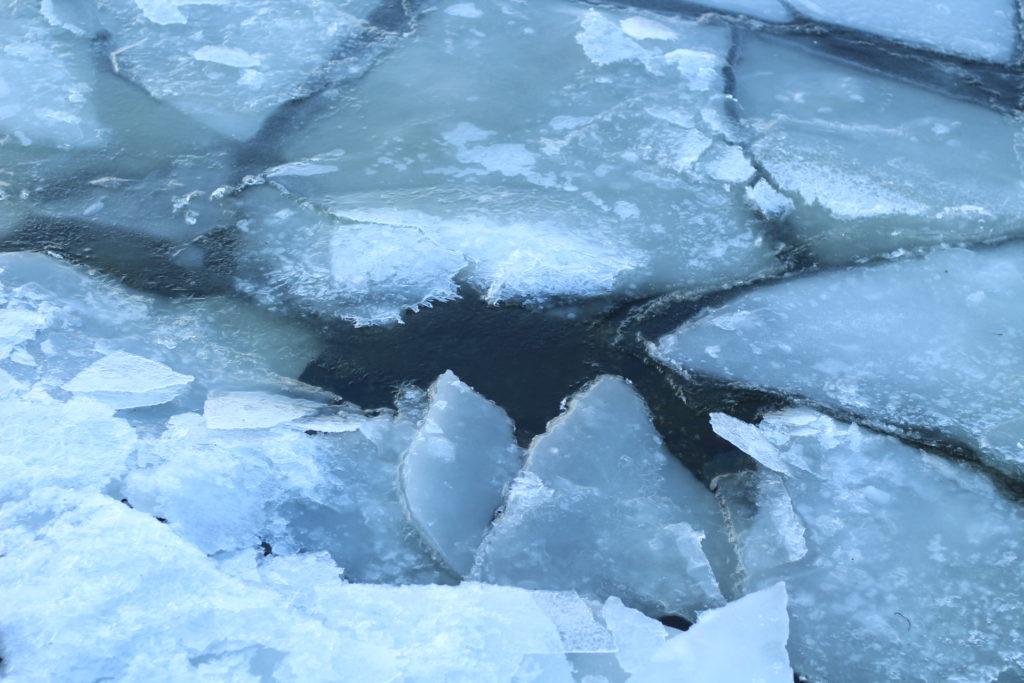 zugefrorene Warnow