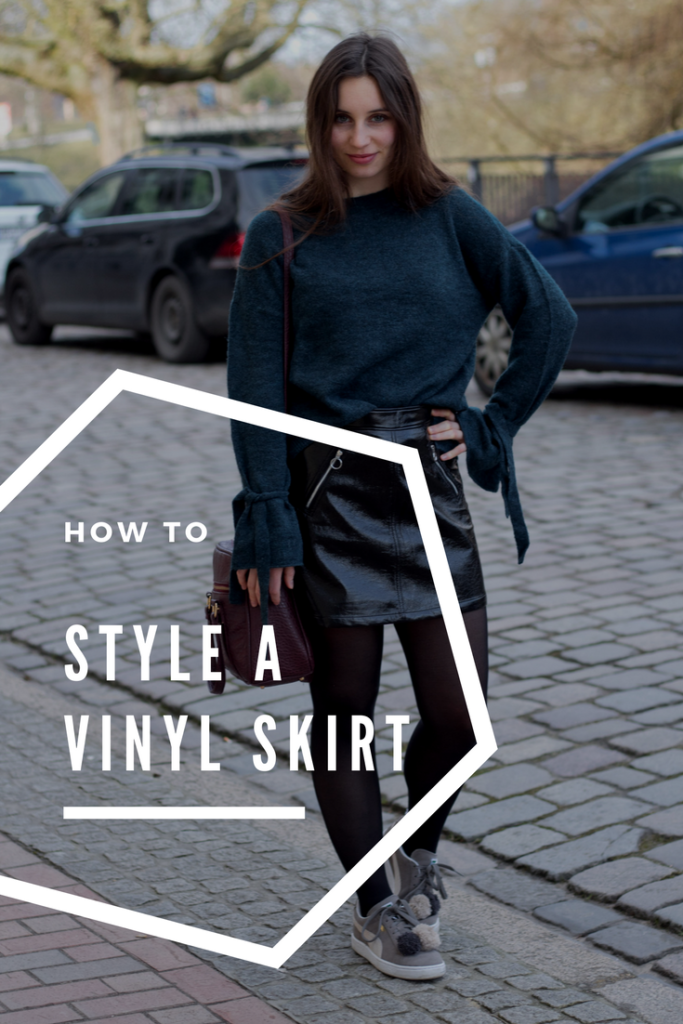 How to style a vinyl skirt