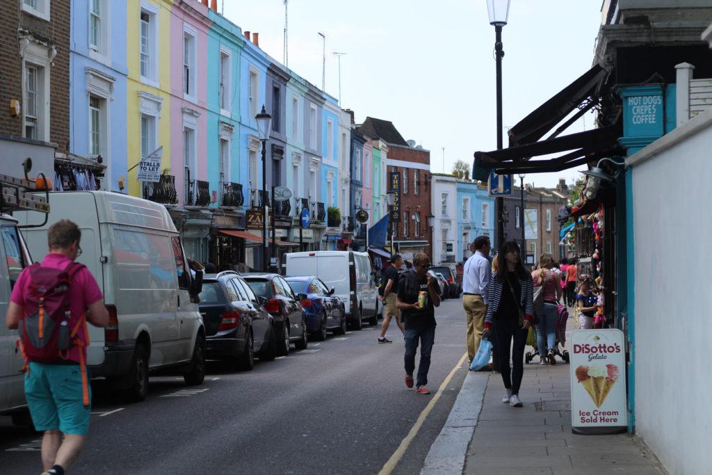 Die bunten Häuser von Notting Hill