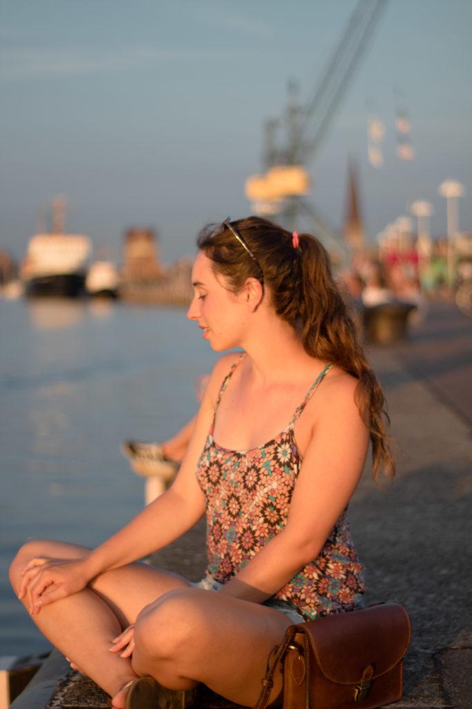 Abendstimmung am Stadthafen im August