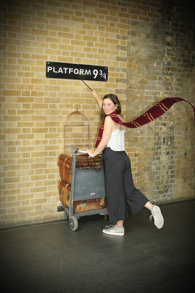 Der Bahnsteig 9 3/4 in London! Ein Muss für alle Potterheads!