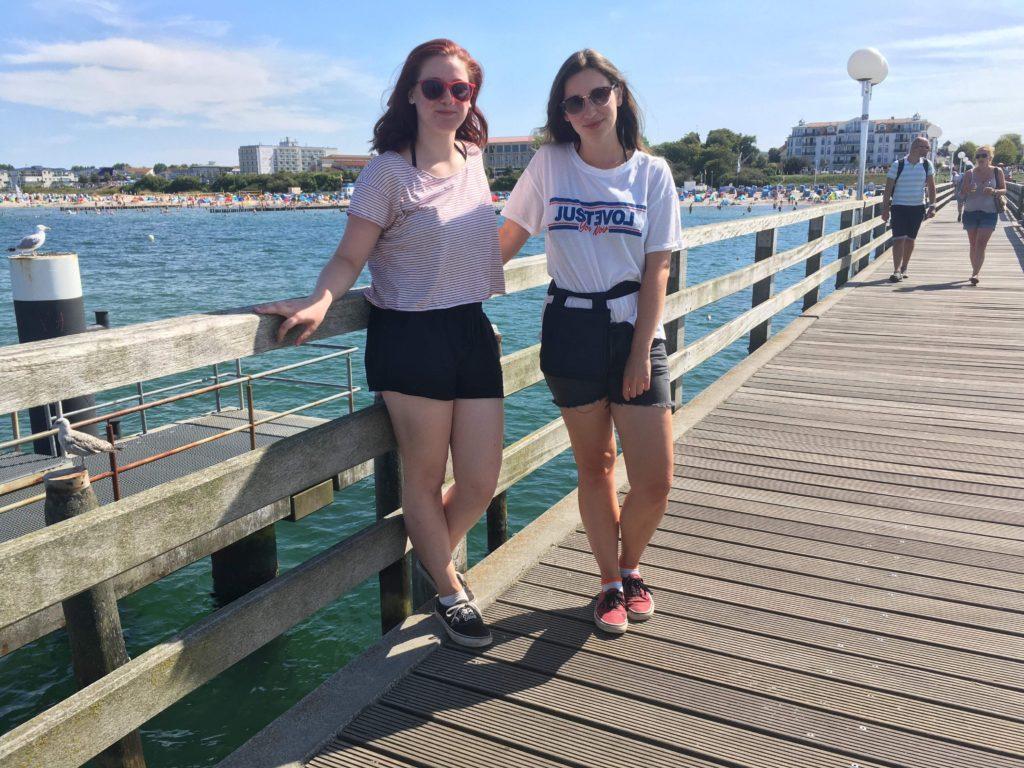 Kleine Pause: der Ostseeradweg