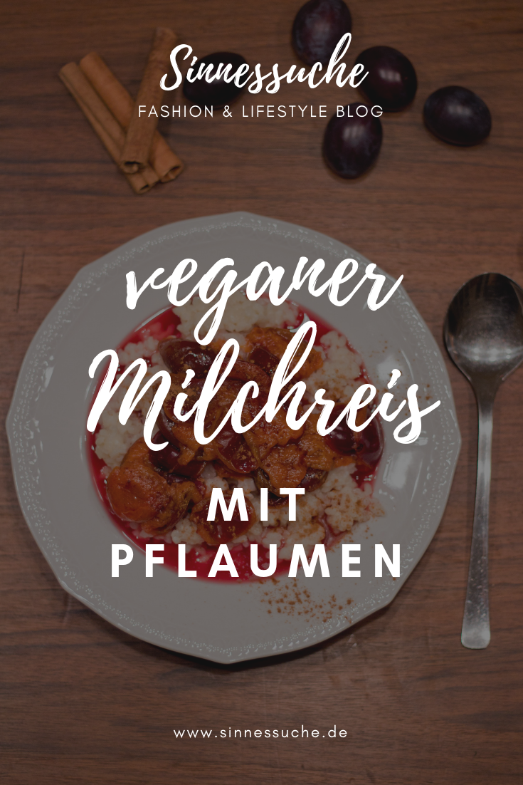 veganer Milchreis mit Pflaumen