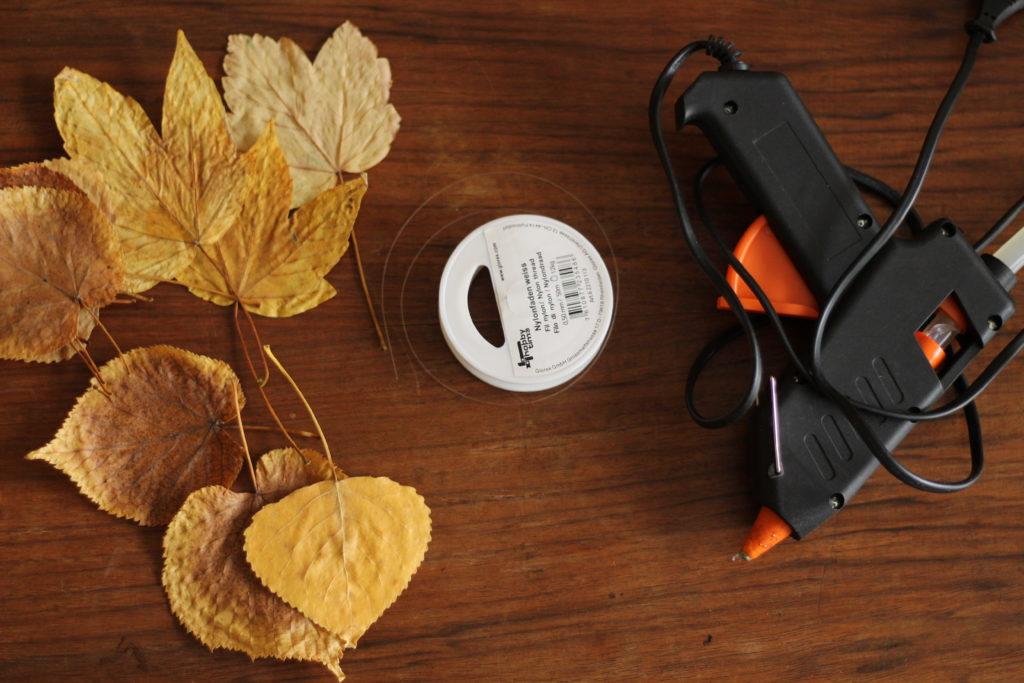 Herbstdeko aus Naturmaterialien