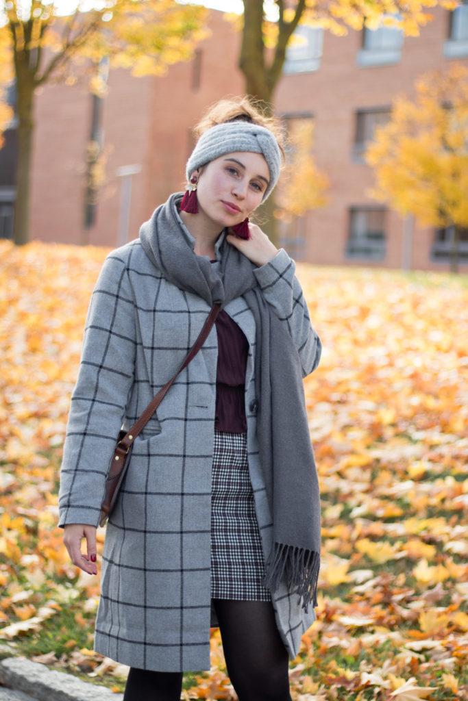 Karomantel im Herbst kombinieren
