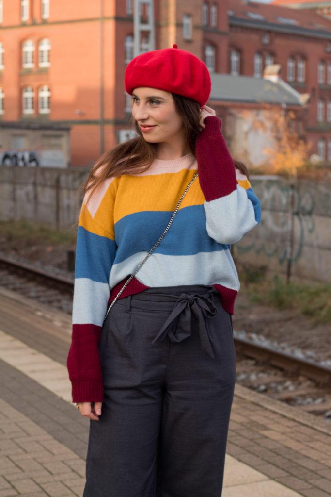 Outfit mit Blockstreifen