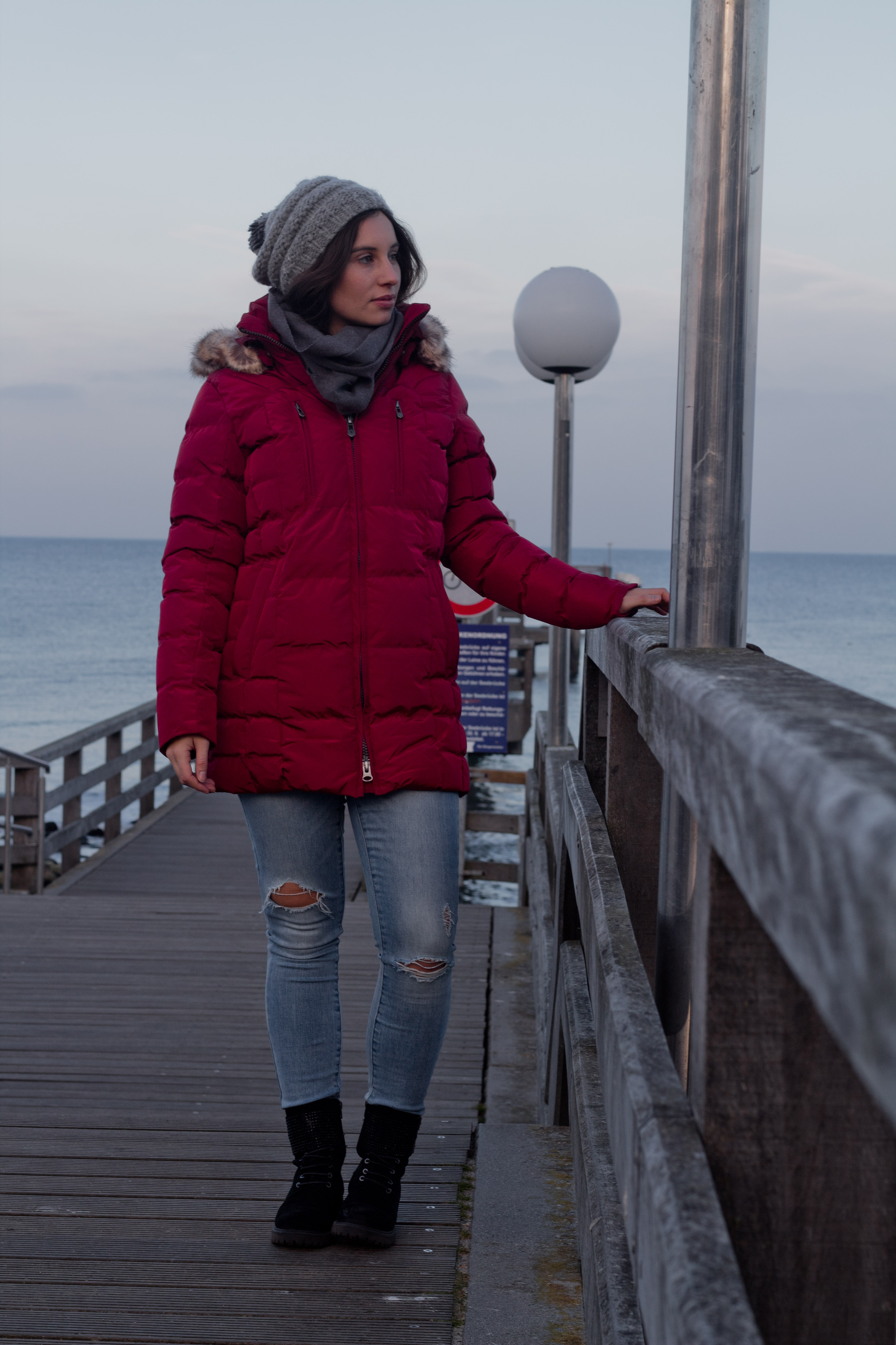 Winteroutfit für die Küste