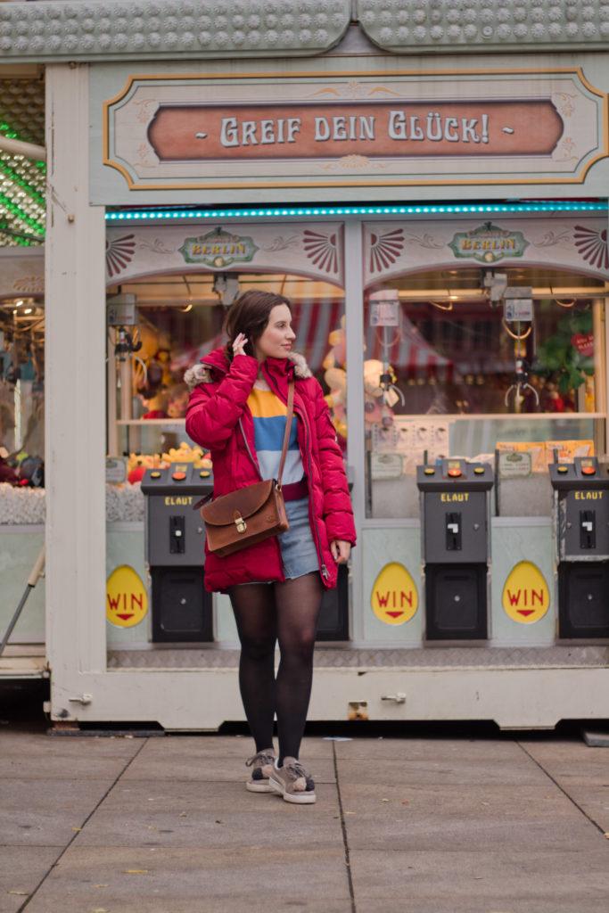 Farbenfroh auf dem Weihnachtsmarkt