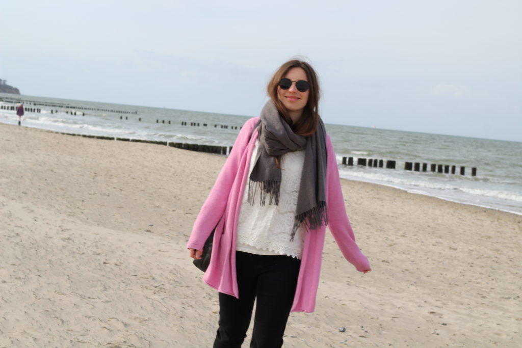 Strandspaziergang in Warnemünde