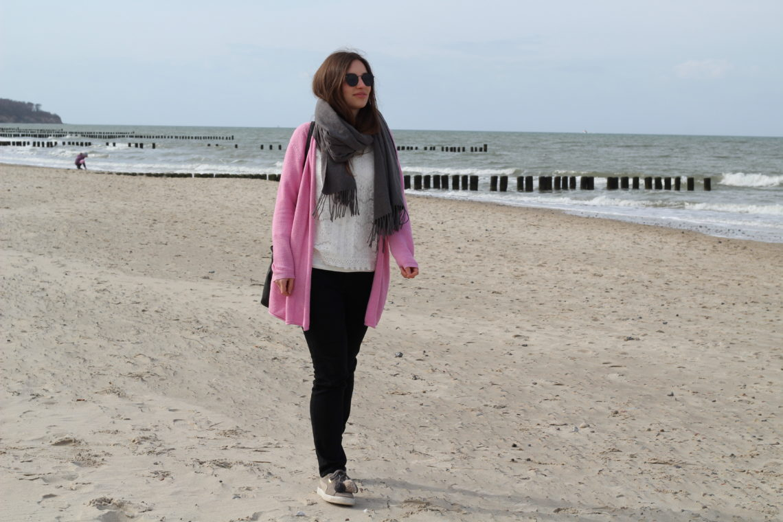 Frühlingsfarben am Strand