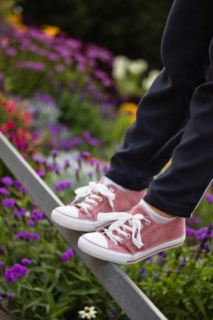 Rosa Cord Schuhe von Jeans Fritz